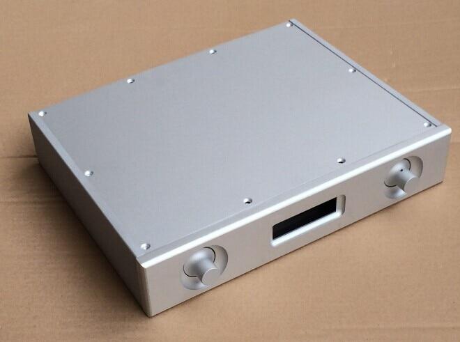 Aluminum case Chassis For power Amplifier Aluminum enclosure es9028pro 9018 dac case (W321mm H62mm D252mm ) aluminum 4307 power amplifier enclosure dac chassis preamplifier case 430 70 350