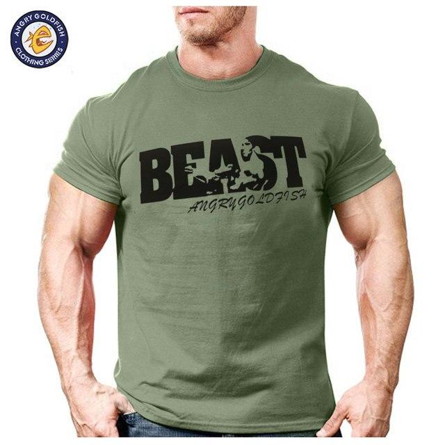e7eecd90 New Arrival Creative Art Design Beast t shirt for Men Summer short sleeve  cool shirts 100% original brand breathable soft tops