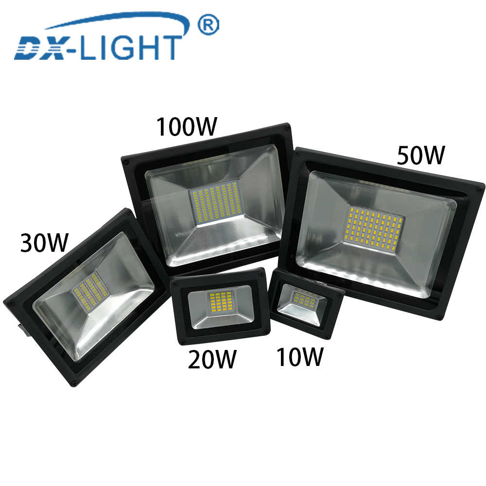 LED Engineering light 100W 50W 30W 20W 10W Ultra Thin Led Flood Light Spotlight Outdoor 230V IP65 Outdoor Wall Lamp Work Light