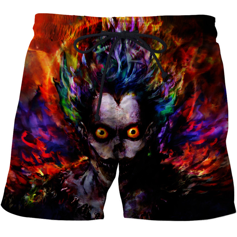 Skull printed 3d beach pants Mens Swim   Shorts   Surf Wear 3d digital beach pants Wolf harajuku beach   shorts     board     shorts