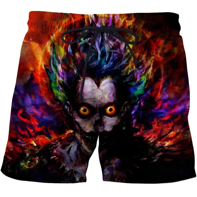 Skull printed 3d beach pants Mens Swim   Shorts   Surf Wear 3d digital beach pants Wolf harajuku beach   shorts     board     shorts
