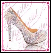 Aidocrystal kundenspezifische elegante weiße schuhe high heels kleid brautschuhe hochzeitsschuhe pumpen frauen