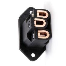 2pcs X Hifi Audio Hifi Connector Plug adapter  FI-06(C) copper plated  IEC Socket