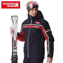 KOŞU NEHIR Marka Erkekler Yüksek Kaliteli Kayak Ceket Kış Sıcak Kapşonlu Spor Ceketler Adam Profesyonel Açık ceket # A7006