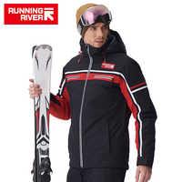 LAUF FLUSS Marke Männer Hohe Qualität Ski Jacke Winter Warm Mit Kapuze Sport Jacken Für Mann Professional Outdoor jacke # A7006
