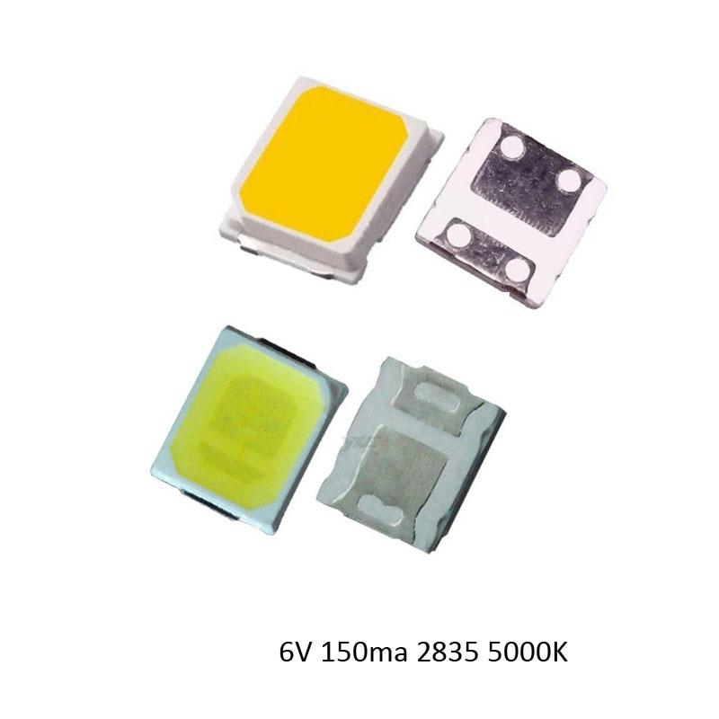 New 6V 150ma  5000K 95-100lm LED Chip 2835 100PCS  Free Shipping Via Regisiter Air Mail