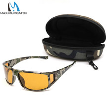 Maximumcatch Camouflage Frame Fly Fishing Polarized Sunglasses Gray/Yellow/Brown Color Fishing Sunglasses