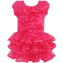 Girls Dress Peach Pink Tulle Tutu Dancing Party Kids Boutique 2018 Summer Princess Wedding Dresses Girl Clothes Size 2-6 Pageant
