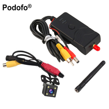 Podofo 903W Waterproof 2.4G 30fps Realtime Video WIFI Transmitter for FPV Aerial Photography Car Backup Camera AV/DC/ Interface