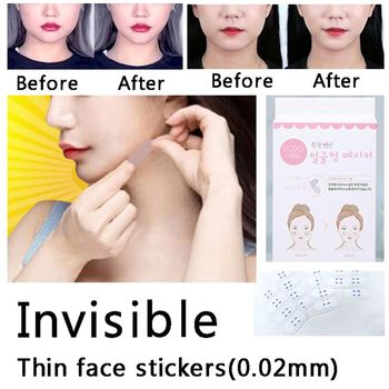 40Pcs/set Unisex Invisible Thin Facial Stickers Line Wrinkle Sagging Skin V-Shape Face Lift Sticker Tape - discount item  28% OFF Skin Care Tool