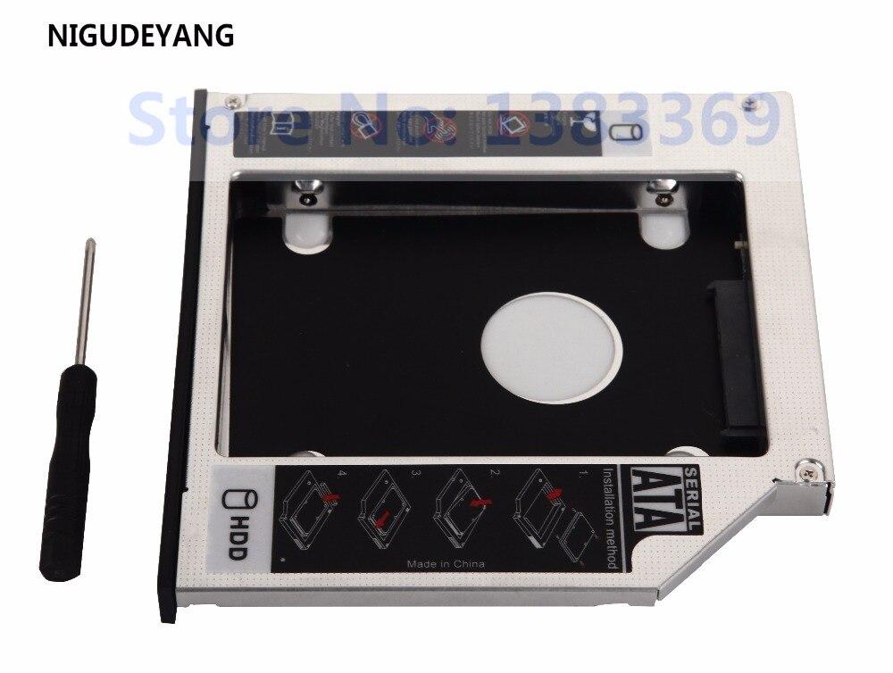 US $7 19 40% OFF|NIGUDEYANG 2nd SSD HDD HD SATA Hard Drive Caddy Tray  Adapter for Lenovo IdeaPad Z370 Z470 Z570 Optical Bay-in HDD Enclosure from