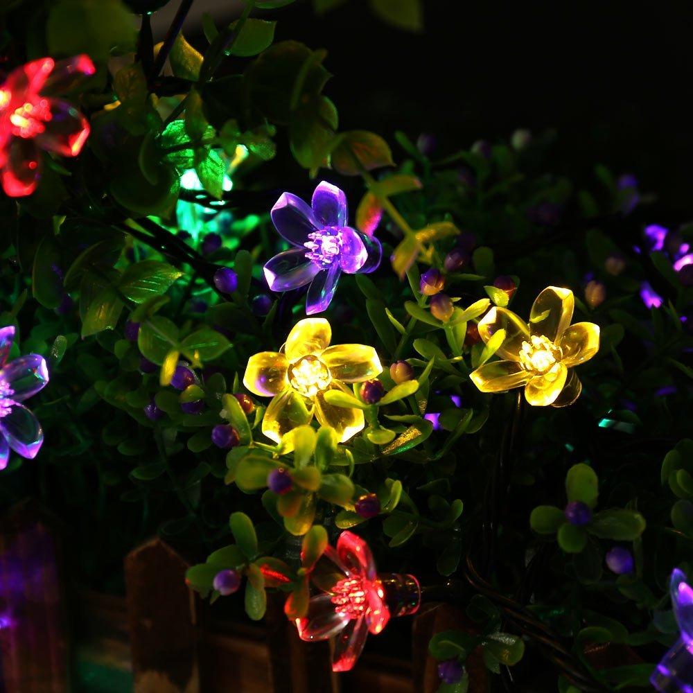 Күн сымының шамдары, 7M 12M 60LED 100LED LED - Мерекелік жарықтандыру - фото 4