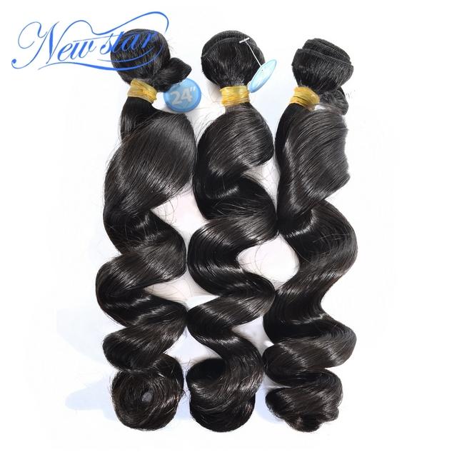 Venda quente new star cabelo brasileiro onda solta extensões de cabelo virgem onda solta não transformados 3 peças/lote um doador cabelo tece