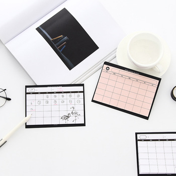 Creative simple desktop schedule planner Monthly Plan kawaii mini notebooks office supplies Work efficiency summary organizer 1