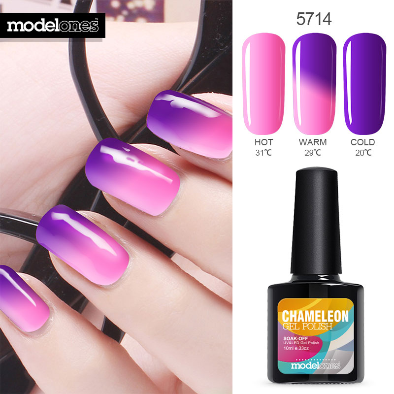 Modelones 10ML Temperature Thermal Gel Polish UV Led Nail Gel Mood UV Gel Nail Polish Vernis Semi Permanent Color Changing Gel