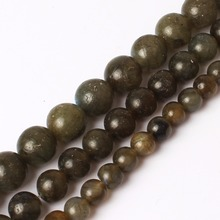 ФОТО natrual round stone beads 4/6/8/10mm genuine grey labradorite stone beads for jewelry making 15inches diy jewelry