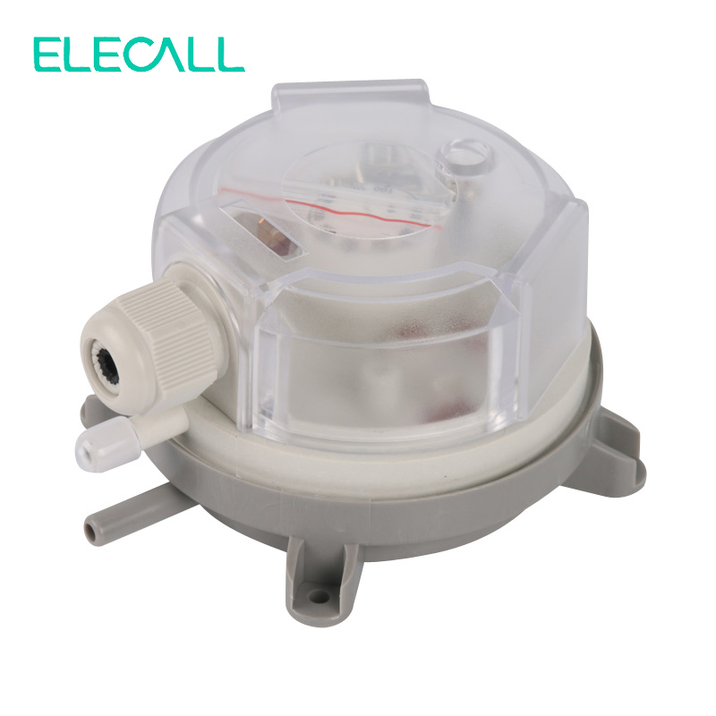 ELECALL High Quality Air Differential Pressure Switch Adjustable Micro Pressure Switch Optional Range 20 ~ 5000 Pa 500 to 500pa micro differential pressure gauge high te2000