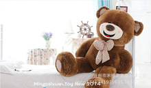 STuffed toy happy smile bear plush toy bowtie teddy bear doll soft pillow toy birthday gift w9773