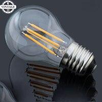 5 pieces LightInBox E14 4 W 8 W 12 W Antigo Retro Do Vintage Levou lâmpada 220 V E27 Regulável Edison G45 Levou Filamento da Lâmpada De Vidro lâmpada