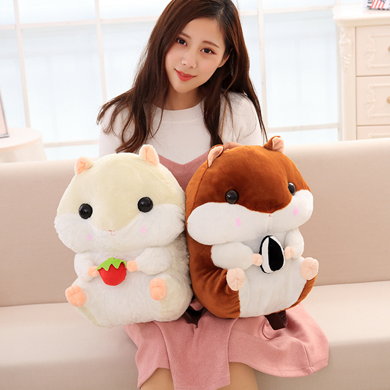 Cute Plush Hamster Cartoon Shoulder Bags Kids Backpack Baby Girls Kindergarten School Bags Children Backpacks Women Mochilas