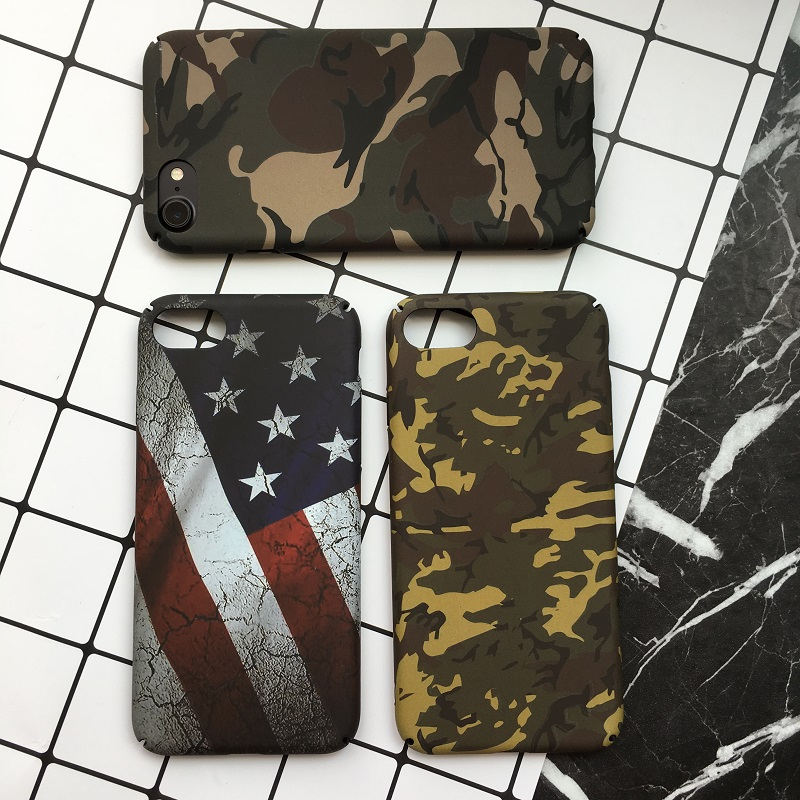 Originality Camouflage Series Case For iphone 6 6s 6plus National Flag Hard PC Back Cover For iphone 7 7plus 8 8plus phone cases