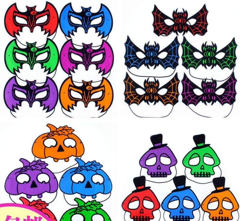 5pcslot Bat Pumpkin Human skeleton masks for halloween party Children or adult Holiday Party mask 18G cosplay eye mask