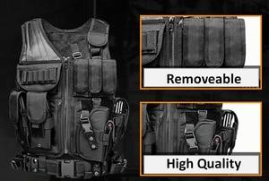 Image 5 - คุณภาพสูงยุทธวิธี Vest ความปลอดภัยกลางแจ้งการฝึกอบรม COMBAT CS Field Protection สำหรับเกม Paintball SWAT ทีม