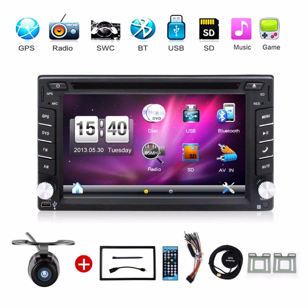 imágenes para Universal autoradio DVD Del Coche de 6.2 Pulgadas de Pantalla Táctil 2 DIN EN EL TABLERO de Radio Estéreo Con GPS de Navegación Bluetooth SD/USB Car Styling