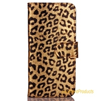 For Apple Iphone 6 Case Luxury Mobile Phone Case Leopard Pattern Leather Case For Phon Carcasa