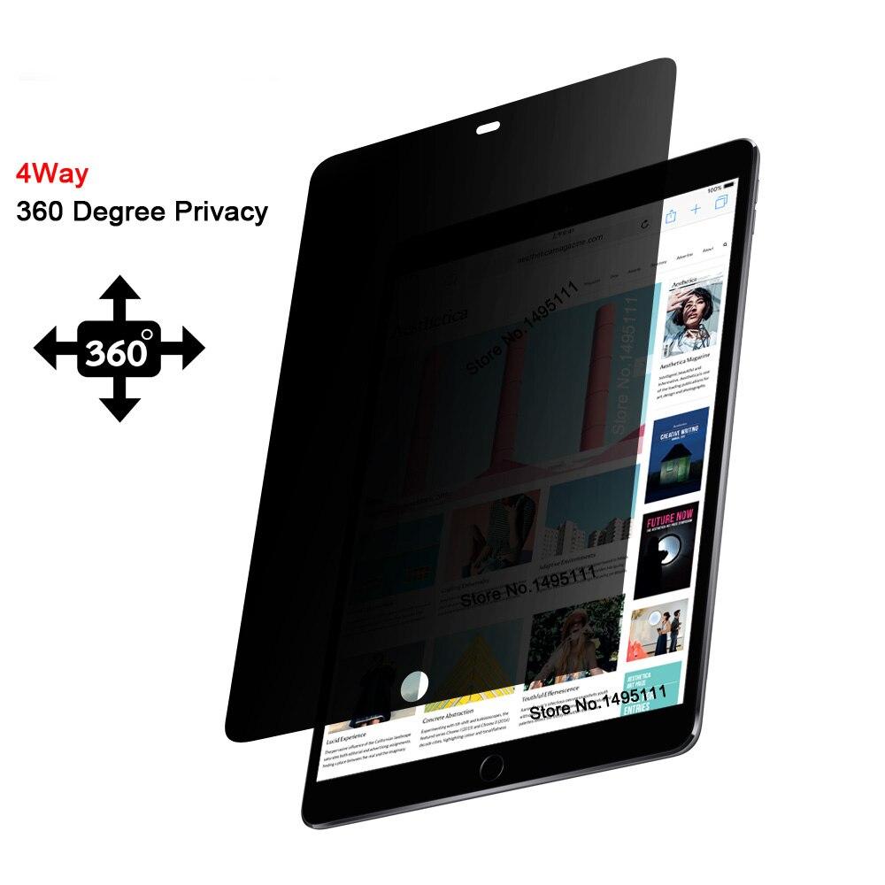 PET 360 degree Privacy Filter For apple iPad Pro 12 9 inch Anti glare Screen protector