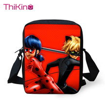 цены Thikin Ladybug Shoulder Messenger Bag Crossbody Phone Bag for Girls School Supplies Shopping Bags Mochila Infantil