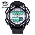 SMAEL Esporte Relógios para Homens Grande Dial Dual Time relógio de Pulso À Prova D' Água LED Digital Relógio orologio uomo masculino relogios WS1438