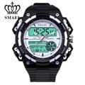 SMAEL Sport Watches for Men Big Dial Dual Time Wristwatch Waterproof LED Digital Clock orologio uomo relogios masculino WS1438