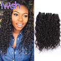 4 Bundles Indian Water Wave Raw Indian Hair Unprocessed Wet Wavy Natural Wave Human Hair Extensions Indian Curly Virgin Hair