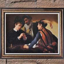 Famous Painting Reproduction Cardsharps by Caravaggio Outstanding Artwork Portrait Canvas Oil Painting Art for Room Decoration