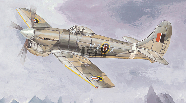 1:144 Modern British Hurricane Fighter Aircraft Military Aircraft Assembly Fighter Model 80405