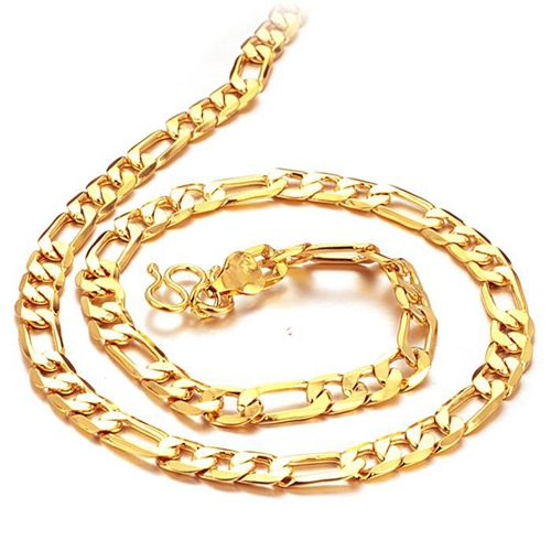 The New Fashion Jewelry Whole 18 Carat Gold Chain Necklace O Boys Men S Domineering