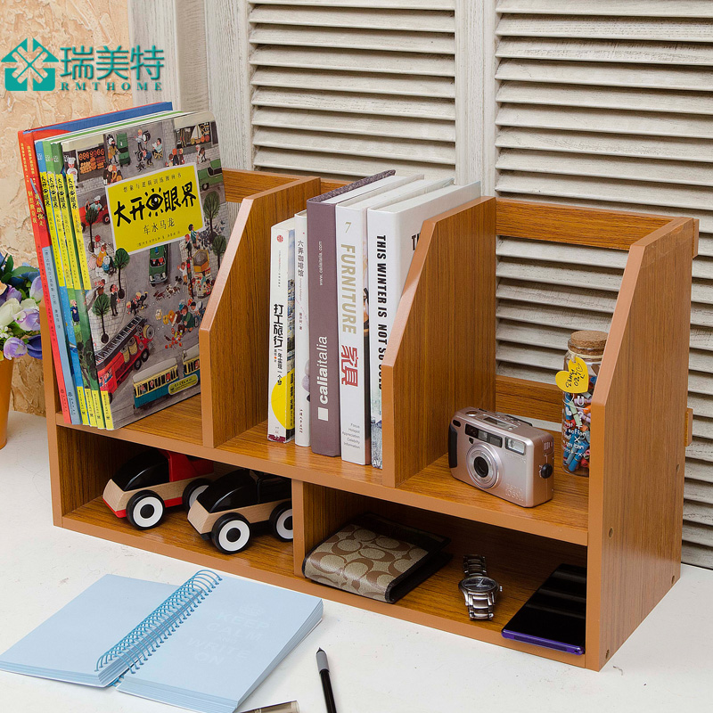 creative simple rui us special small desktop bookshelf desk small bookcase shelves table storage. Black Bedroom Furniture Sets. Home Design Ideas