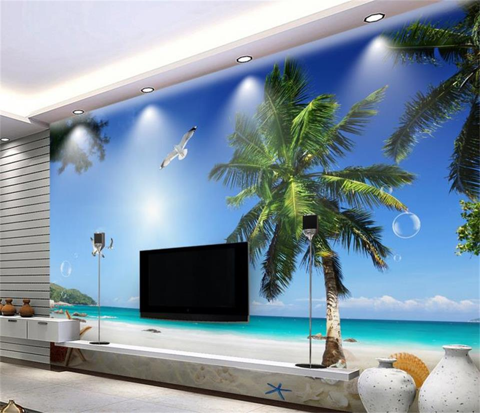popular blue sky tv buy cheap blue sky tv lots from china blue sky 3d wallpaper custom mural non woven photo blue sky palm beach tv background painting 3d