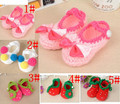 Fashion Design 2017 New Newborn Baby Infant Girls Baby Shoes Crochet Knit Socks Crib shoes 3-12 Months First Walkers #10