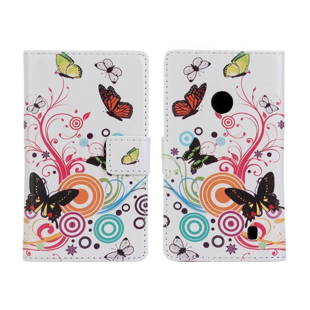 Fashion Black Butterfly Flower PU Leather Waller Cover