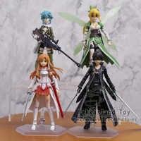 Anime espada arte on-line s. ao figura kirito/asuna/shino figma pvc figura de ação brinquedo collectile modelo