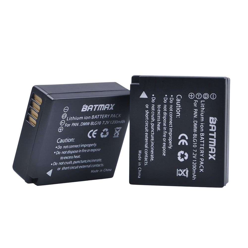 2Pcs DMW-BLG10 BLG10E BLG10PP BLE9 BLE9E Batteries for Panasonic Lumix DMC GF6 GX7 GF3 GF5 ZS100 ZS60 LX100 GX85 DC-ZS70 GX80 panasonic lumix dmc gx80