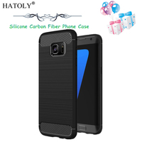 For Samsung Galaxy S7 Case Slim Rugged Armor Shockproof Hybrid Soft Rubber Silicone Phone Cases Cover