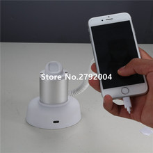 10 pcs/lot Universal mobile phone security display holder with alarm cell phone secure display stand with Factory price