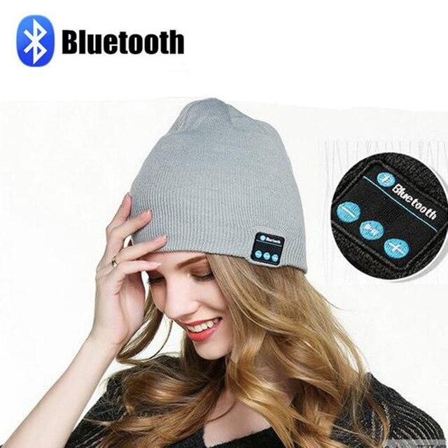 Calidad Garantizada auricular Bluetooth sombrero Gorro de Punto ...