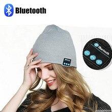 Qualidade Garantida Bluetooth fone de ouvido Tampão do Inverno do chapéu do Beanie Malha Hands-free Music Mp3 Speaker Mic Esporte Chapéus para Menino & menina