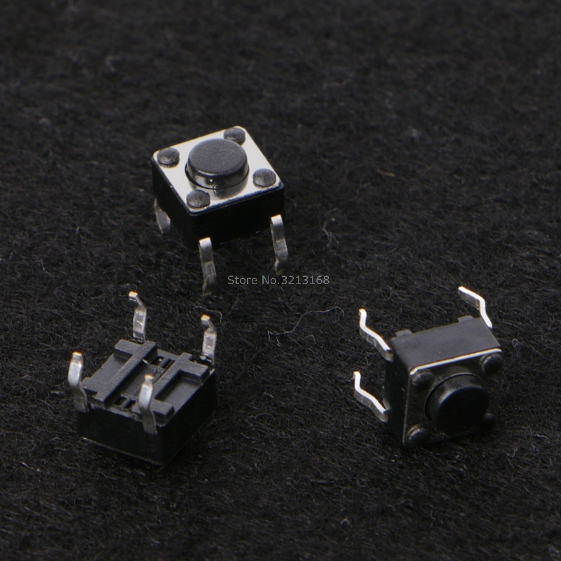 100 Pcs 6x6x4.5mm 4 Pin DIP Panel PCB Momentary Touch Tact Push Button Switch Dropshipping/323