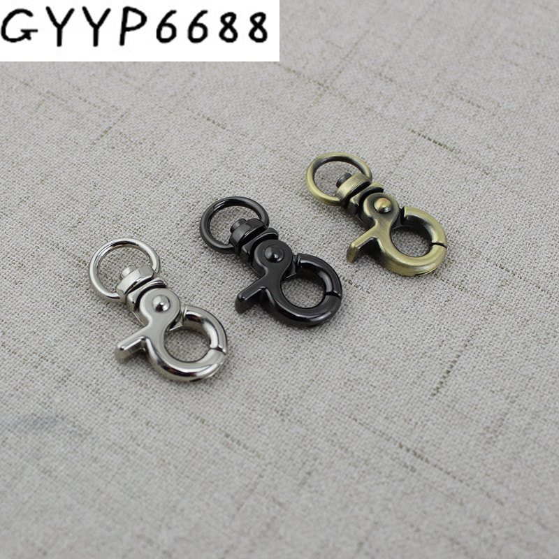 50pcs 9*30mm High Quality Retro Small Trigger Snap Hook Clasp Clip For Chain, Swivel Dog Leash Bags Small Purse Adjusted