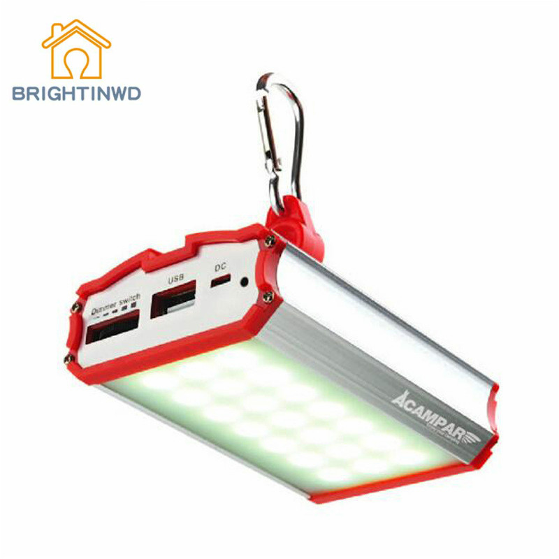 BRIGHTINWD Portable Hanging Tent Lamp Emergency LED Outdoor Lighting Camping Lantern for Mountaineering Charging Treasure Hiking